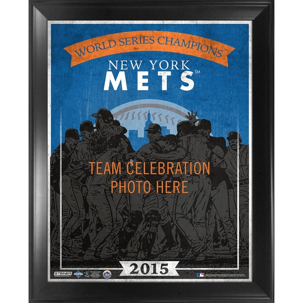 New York Mets 2015 World Series Champions 16x20 Team Composition Graphic Framed Collage