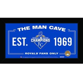 Kansas City Royals 2015 World Series Champions 10x20 Man Cave Sign