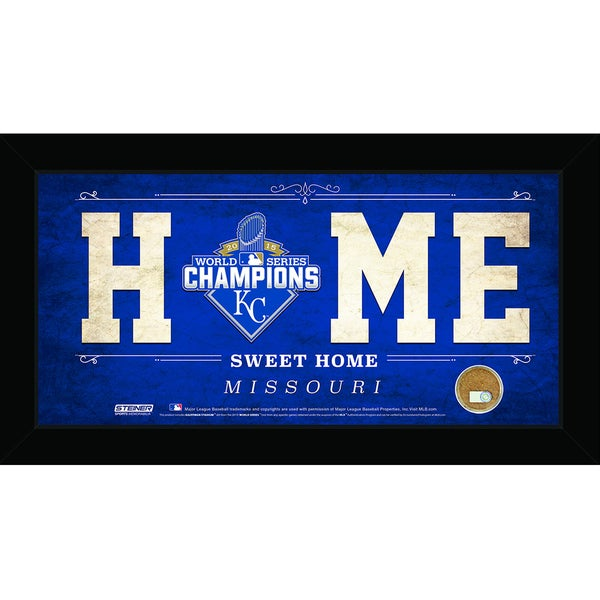 Kansas City Royals 2015 World Series Champions 6x12 Home Sweet Home Sign