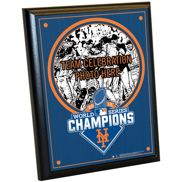 New York Mets 2015 World Series Champions 8x10 Plaque