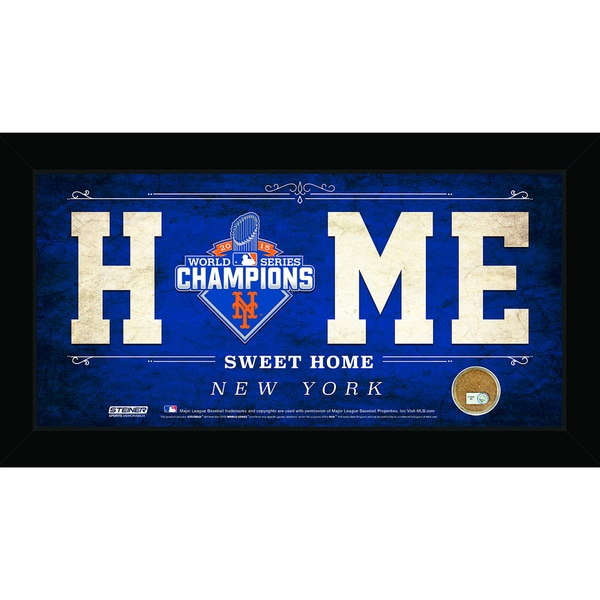 New York Mets 2015 World Series Champions 6x12 Home Sweet Home Sign