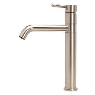 LSH Brushed Nickel European Swivel Arm Vessel Sink Faucet
