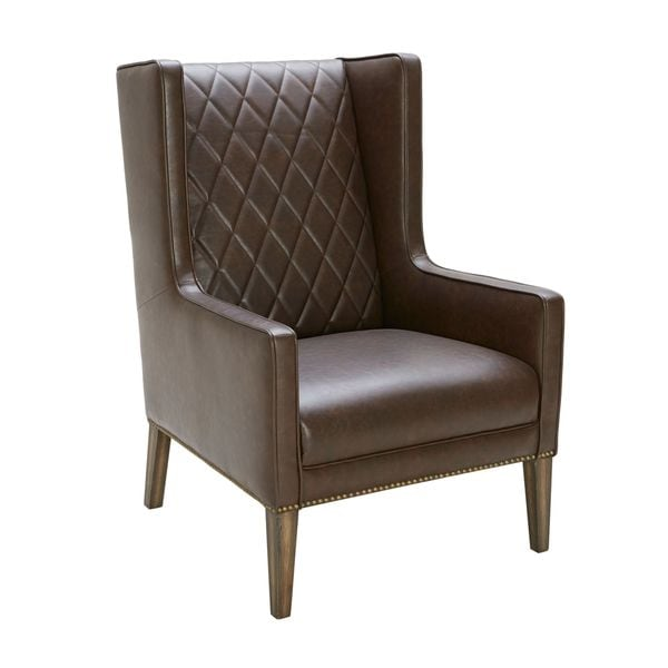 Sunpan Roma Leather Arm Chair