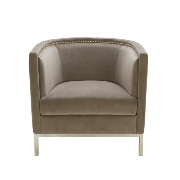 Sunpan Portsmouth Grey Fabric Wales Arm Chair