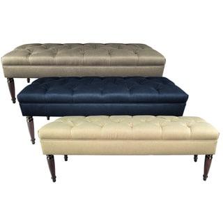MJL Furniture Claudia Diamond Tuft Dawson7 Upholstered Long Bench