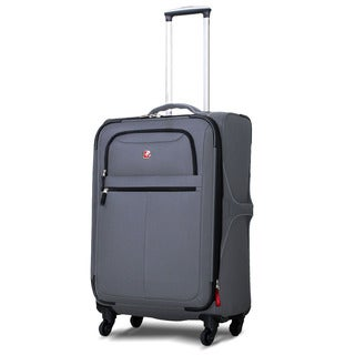 SwissGear Charcoal 24-inch Expandable Spinner Upright Suitcase