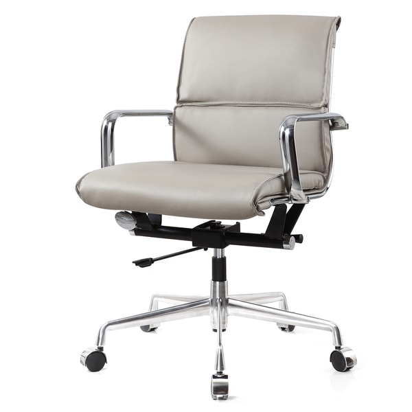 M330 Office Chair In Grey Vegan Leather