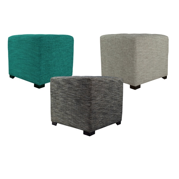 MJL Furniture Lucky Square Button Tufted Ottoman