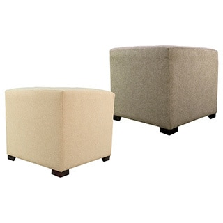 MJL Furniture Dawson7 4-button Tufted Square Ottoman