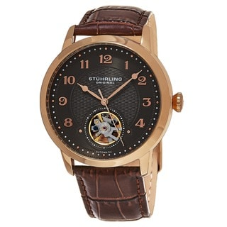 Stuhrling Original Men's Automatic Perennial Leather Strap Watch