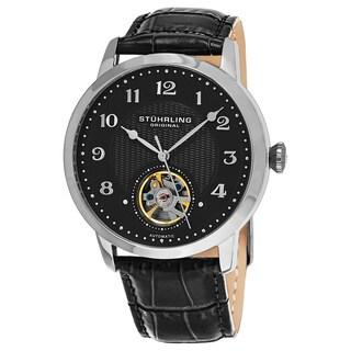 Stuhrling Original Men's Automatic Perennial Leather Strap Watch
