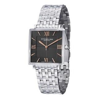 Stuhrling Original Men's Swiss Quartz Saratoga Elite Stainless Steel Bracelet Watch