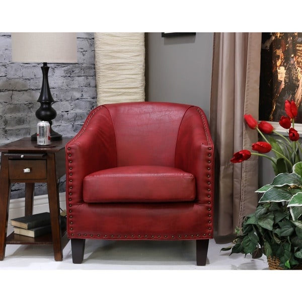 Somette Giles San Lorenzo Red Barrel Chair