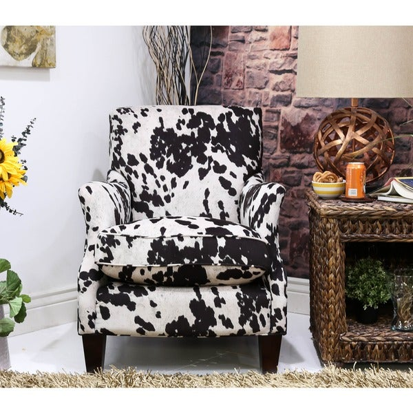 Somette Emma Black Cow Club Chair