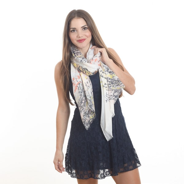 "Printed Design Scarf - 37""x70"""