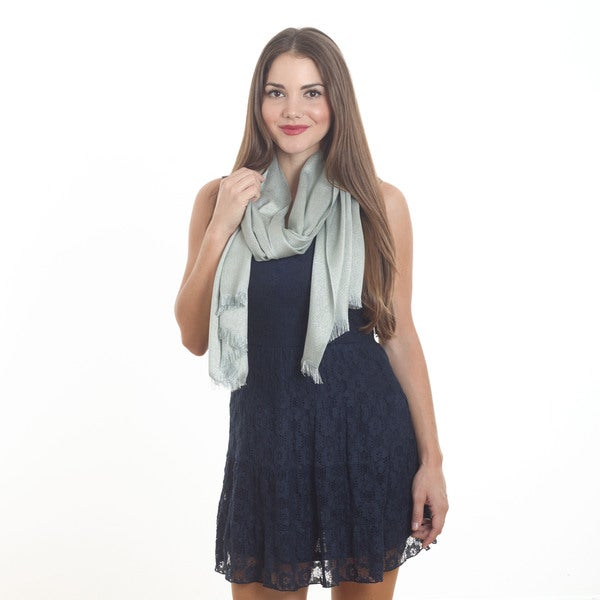 "Lurex Design Scarf - 26""x63"""