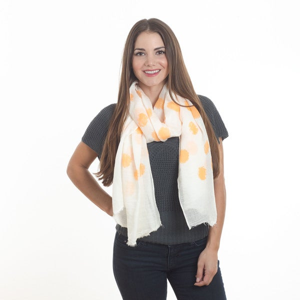"Dotted Design Scarf - 37""x70"""
