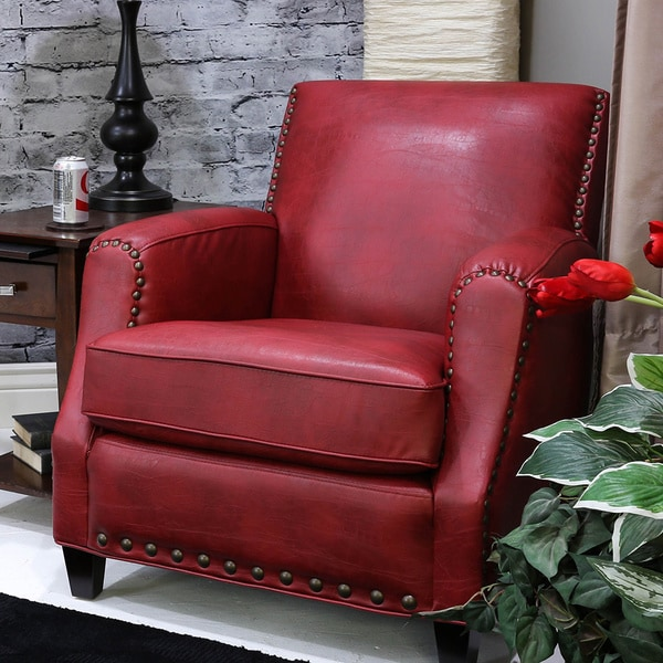 Somette Saranac San Lorenzo Red Club Chair