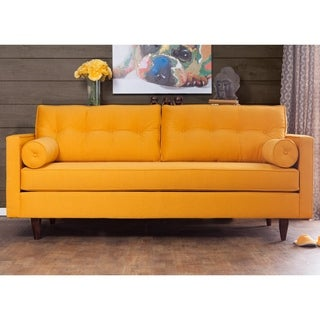 Furniture of America Kalinda Modern Mid-Century Sunshine Gold Sofa