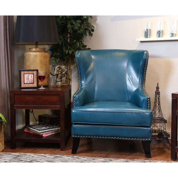 Somette Grant Mayfair Peacock Wing Chair
