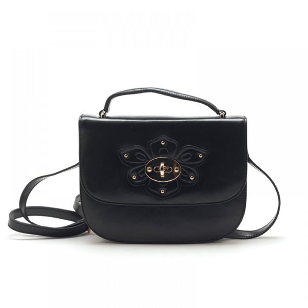 Eastside Flower Buckle Leather Mini Handbag