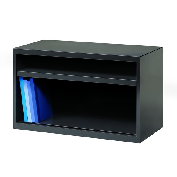 36-inch Charcoal Low Open Credenza
