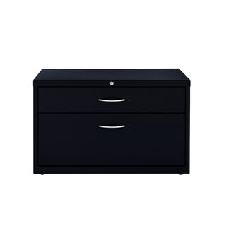 36-inch Black Lateral File Box