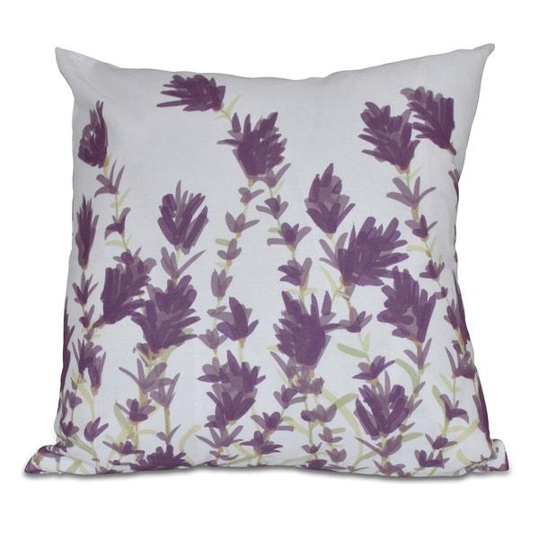 Lavender Floral Print Pillow