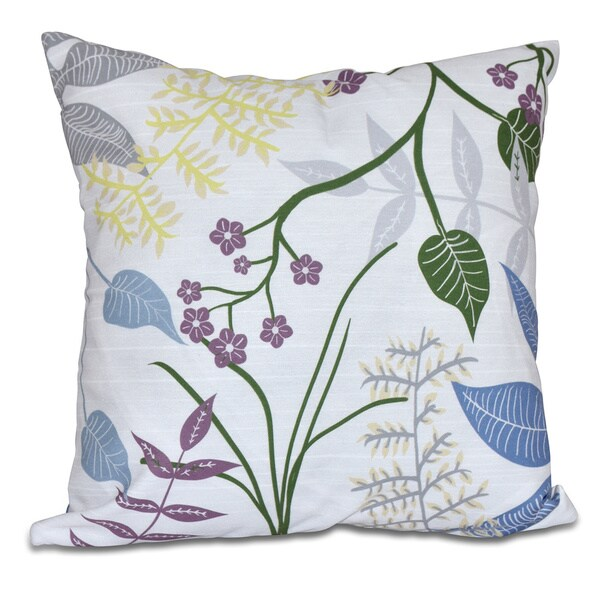 Botanical Floral Print Pillow