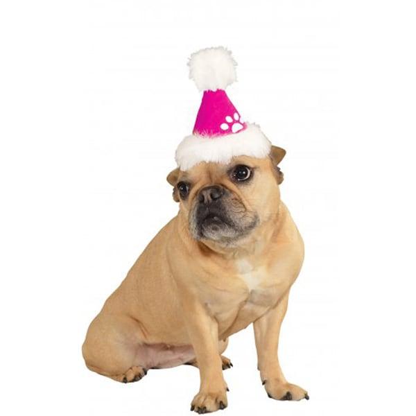 Rubies Pink Santa Pet Hat