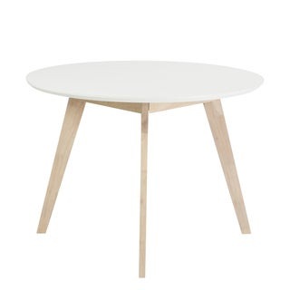 Montana Round Dining Table - White/Natural
