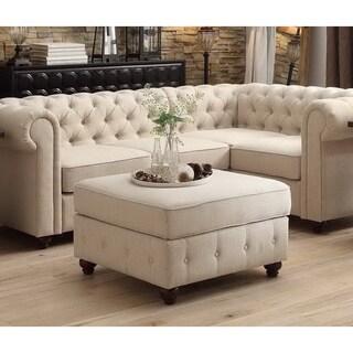 Moser Bay Furniture Garcia Tufted Squared Ottoman