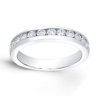 Auriya 14k Gold 1/5ct TDW Round-Cut Diamond Channel Band (H-I, SI1-SI2)