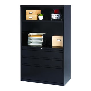 Hirsh HL8000 Series 36-inch Wide 3-Drawer Combo Commercial Lateral File Cabinet