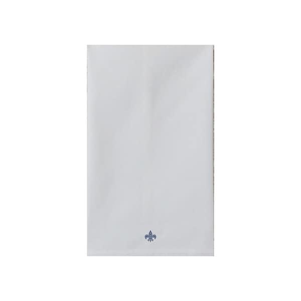 Ikat Fleur De Lis Print Tea Towel