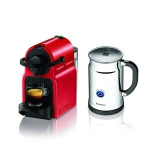 Nespresso Red Inissia Espresso Maker + Aeroccino Plus Milk Frother