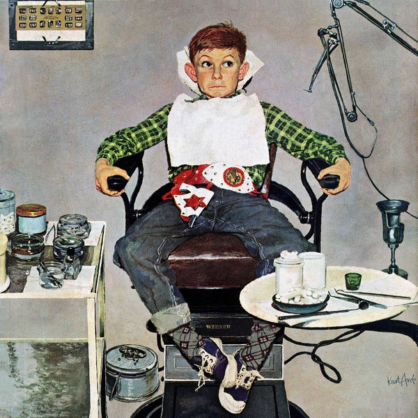 "Marmont Hill - ""In the Dentist's Chair"" by Kurt Ard Painting Print on Canvas"