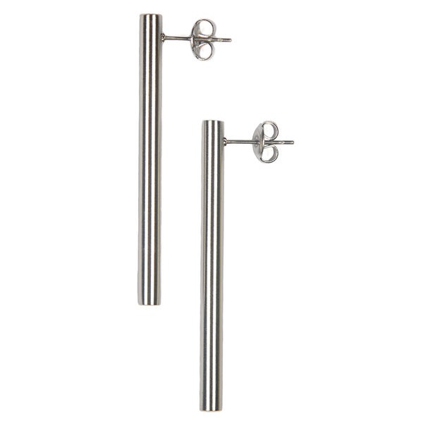 2-inch Stainless Steel Post Earrings (China)