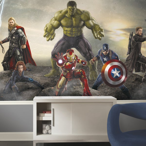 Avengers: Age of Ultron Ground Attack Wall Decal Prepasted Mural