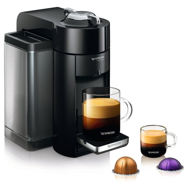 Nespresso GCC1-US-BK-NE Black VertuoLine Evoluo Deluxe Coffee and Espresso Maker