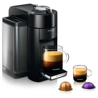 Nespresso GCC1-US-BK-NE Black VertuoLine Evoluo Deluxe Coffee and Espresso Maker