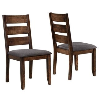 Milano Rustic Knotty Ladder Back Dining Chairs (Set of 2)
