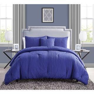 VCNY Crinkle 4-piece Comforter Set