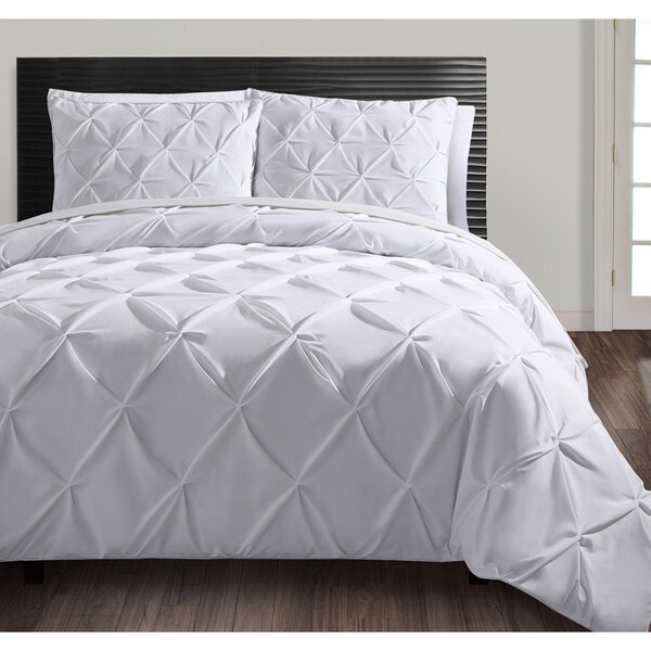 Carmen 3-piece Duvet Cover Set Size Queen in White (As Is Item)