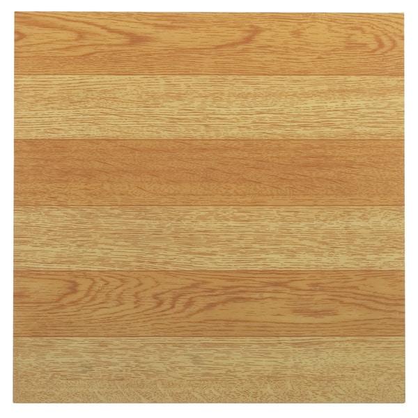 Tivoli Light Oak Plank-Look 12 x 12 Self Adhesive Vinyl Floor Tile #214