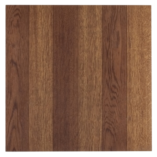 Tivoli Medium Oak Plank-Look 12 x 12 Self Adhesive Vinyl Floor Tile #223
