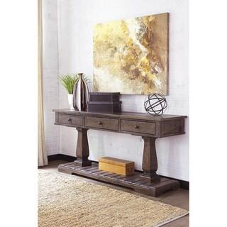 Signature Design By Ashley Woodboro Dark Brown Sofa Table