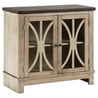 Signature Design by Ashley Vennilux Bisque Accent Cabinet