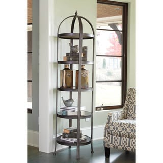 Signature Design by Ashley Roddinton Dark Brown Etagere