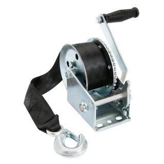 TowSmart Manual Winch with 2 inch x 20 inch Webbing